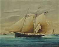 the yacht fleetwing of new york by american school (19)