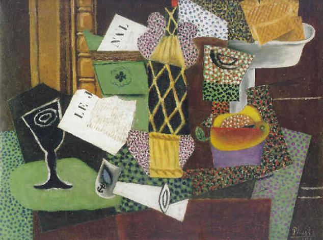 Nature morte à la bouteille de rhum by Pablo Picasso on artnet