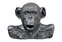 chimp (bust) by lisa roet