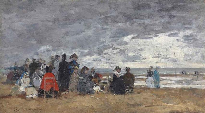 scène de plage by eugène boudin