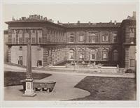 le palais pitti dans le jardin de boboli, florence by leopoldo alinari