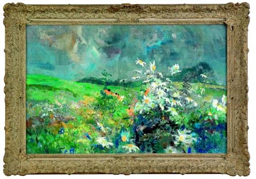 floral landscape by louis b sloan