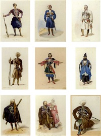 costumes of the caucasus (34 works) by grigory gagarin