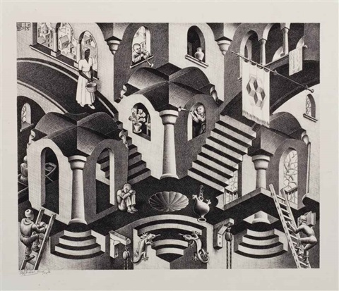 convex and concave by m c escher
