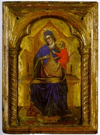 the madonna and child enthroned by paolo veneziano