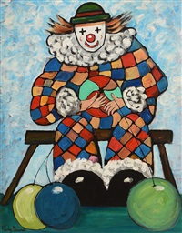 circus clown by gladys maccabe