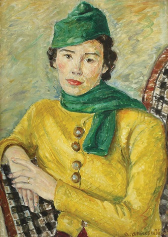 portrait of the painter tanți demetriade by aurelia vasiliu aricescu