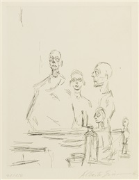 sculptures dans l'atelier (l. 185) by alberto giacometti