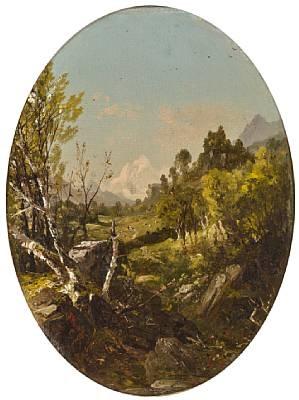 valley landscape trenton falls ny by john frederick kensett