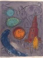 saint germain des pres by marc chagall
