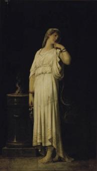 a vestal virgin by louis hector leroux