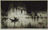 night and the salute (+ venetian scene; 2 works) by sydney mackenzie litten