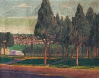 paisaje con árboles by dolcey schenone puig