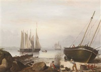 beached for repairs, duncan's point, gloucester by fitz henry lane