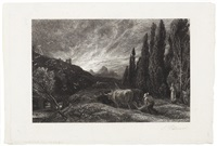 the early ploughman by samuel palmer
