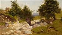 a rocky brook by michael haubtmann
