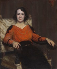 portrait of nina clemens gabrilowitsch by charles courtney curran