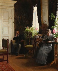 sunday afternoon in a living room by wenzel ulrik tornoe