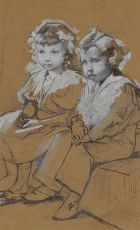 frère et soeur by henry jules jean geoffroy