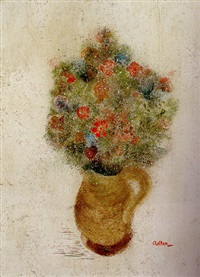 vase and flowers by j.c. adler