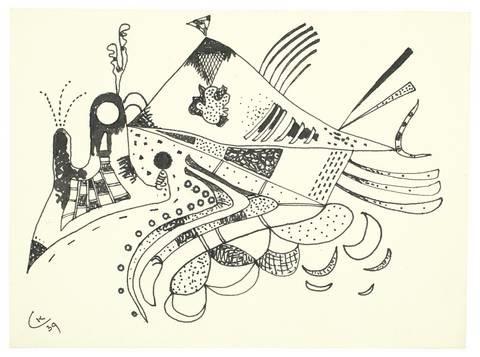 zeichnung zu voisinage by wassily kandinsky