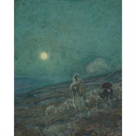 shepherd and flock by henry ossawa tanner