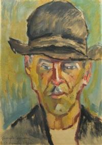 man portrait (gheorghe coseranu) by gabriel stephanescu arephy