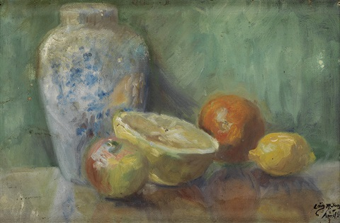 still life with grapefruit by lois mailou jones