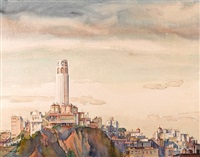 coit tower (+ 12 others, various sizes; 13 works) by william ross cameron