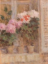 fleurs à la fenêtre by ernest joseph laurent