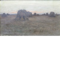 haystacks by charles harold davis