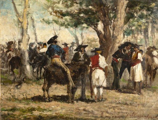marché aux chevaux by joaquín agrasot y juan