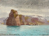 view from the faroe islands by carl ludvig thilson locher