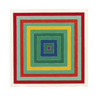 d. scramble: ascending green values/ascending spectrum by frank stella