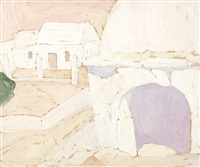 clay oven in a house in aegina by spyros papaloukas