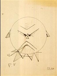 autoportrait de style cubiste by paul verlaine