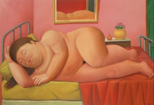 desnudo acostado by fernando botero