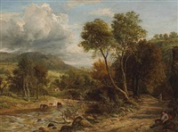 a view of bickleigh vale by john thomas peele