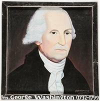 portrait of george washington by kwame akoto