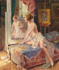 sich im spiegel betrachtend by oumbertos argyros