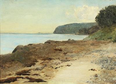 strandparti aarhusbugten moesgård by janus andreas barthotin la cour