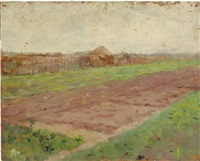 planting field (+ riverbed, verso) by theodore robinson
