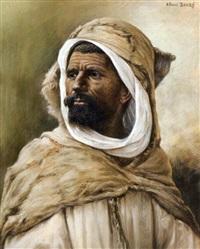 portrait de marocain by albert baure
