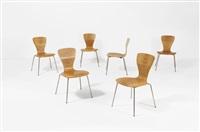 """9019 """"nikke"""" suite de six chaises by tapio wirkkala"""