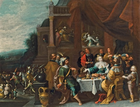 das gastmahl der esther by frans francken the younger