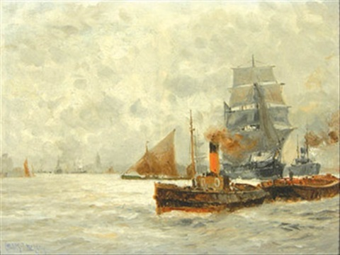 shipping on the thames by charles john de lacy