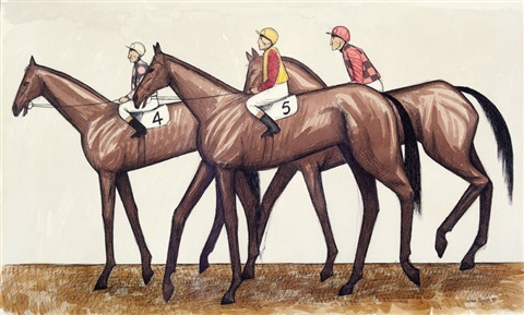 three horses by john brack