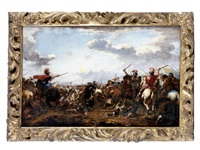 a cavalry skirmish by jacques courtois