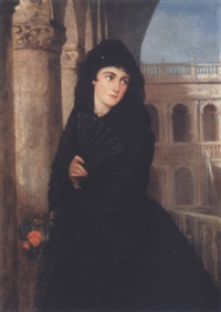 annabel mulvany, the artist's daughter by george francis mulvany