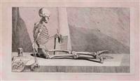 la mort présentant un recueil d'anatomie (for nouveau recueil d'ostéologie et de myologie) by jacques gamelin